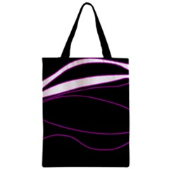 Purple, white and black lines Classic Tote Bag