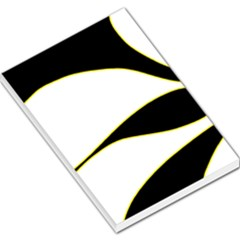 Yellow, black and white Large Memo Pads