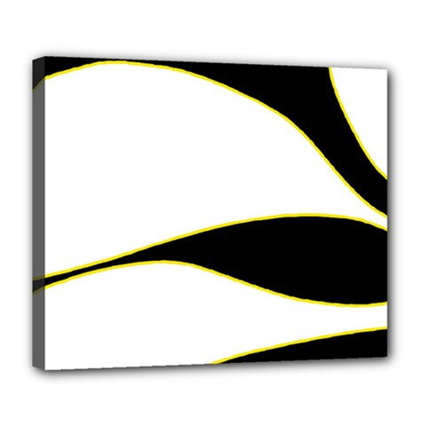 Yellow, black and white Deluxe Canvas 24  x 20