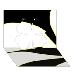 Yellow, black and white Clover 3D Greeting Card (7x5)