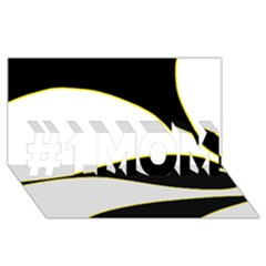 Yellow, black and white #1 MOM 3D Greeting Cards (8x4)