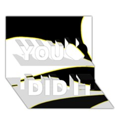 Yellow, black and white You Did It 3D Greeting Card (7x5)