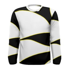 Yellow, black and white Men s Long Sleeve Tee