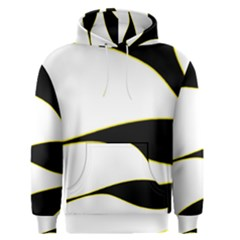 Yellow, black and white Men s Pullover Hoodie