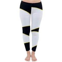 Yellow, black and white Winter Leggings