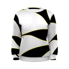 Yellow, black and white Women s Sweatshirt