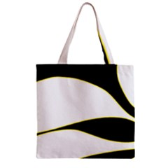Yellow, black and white Zipper Grocery Tote Bag