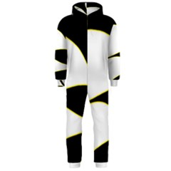 Yellow, black and white Hooded Jumpsuit (Men)