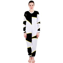 Yellow, black and white OnePiece Jumpsuit (Ladies)