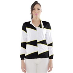 Yellow, black and white Wind Breaker (Women)