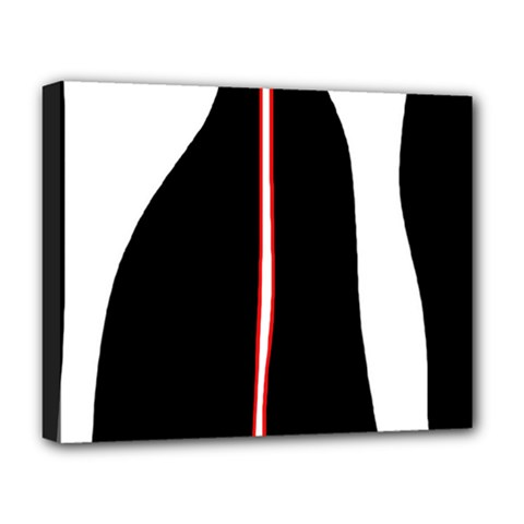 White, red and black Deluxe Canvas 20  x 16