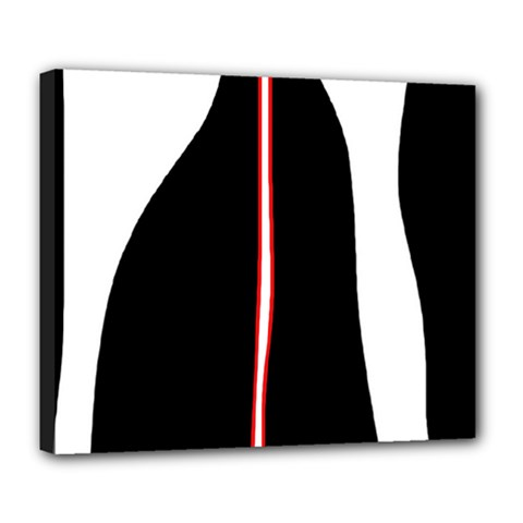 White, red and black Deluxe Canvas 24  x 20