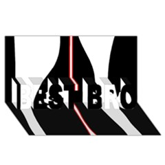 White, red and black BEST BRO 3D Greeting Card (8x4)