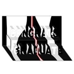 White, red and black Congrats Graduate 3D Greeting Card (8x4)