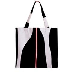 White, red and black Grocery Tote Bag