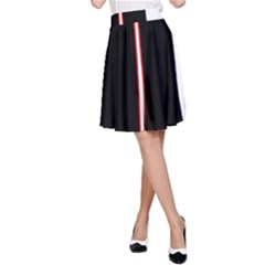 White, red and black A-Line Skirt