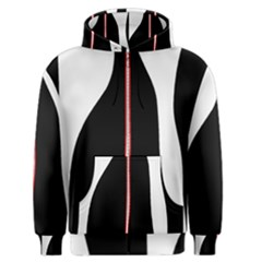 White, red and black Men s Zipper Hoodie