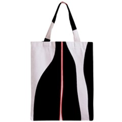 White, red and black Zipper Classic Tote Bag