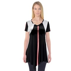 White, red and black Short Sleeve Tunic