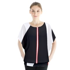 White, Red And Black Blouse