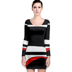 Fantasy Long Sleeve Bodycon Dress