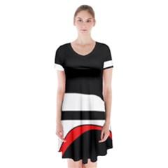 Fantasy Short Sleeve V Neck Flare Dress