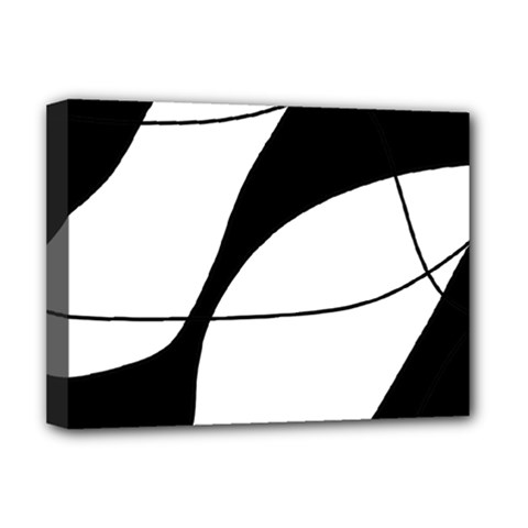 White and black shadow Deluxe Canvas 16  x 12