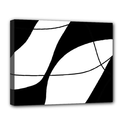 White and black shadow Deluxe Canvas 20  x 16