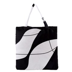 White And Black Shadow Grocery Tote Bag