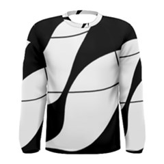 White and black shadow Men s Long Sleeve Tee