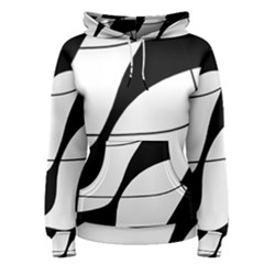 White and black shadow Women s Pullover Hoodie