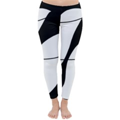 White and black shadow Winter Leggings