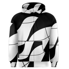 White and black shadow Men s Zipper Hoodie