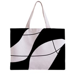 White and black shadow Zipper Mini Tote Bag