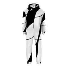 White and black shadow Hooded Jumpsuit (Kids)