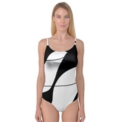 White and black shadow Camisole Leotard