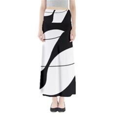 White and black shadow Maxi Skirts