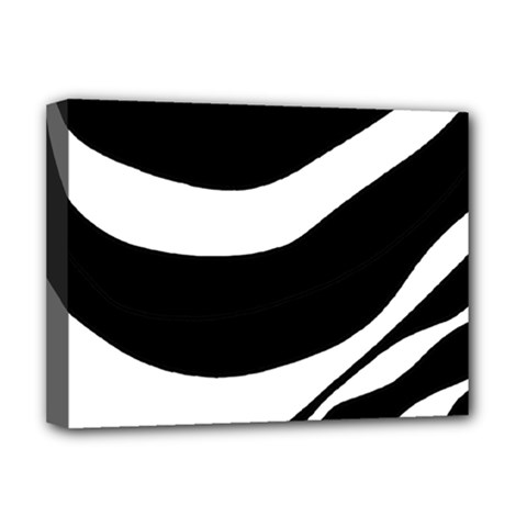 White or black Deluxe Canvas 16  x 12