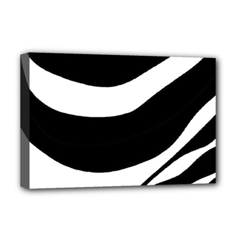 White or black Deluxe Canvas 18  x 12