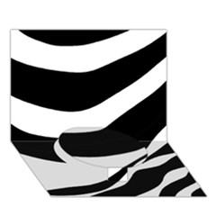 White or black Circle Bottom 3D Greeting Card (7x5)