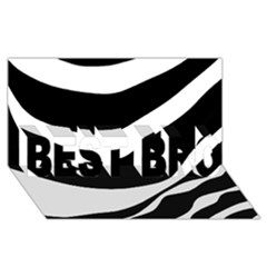White or black BEST BRO 3D Greeting Card (8x4)