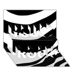 White Or Black You Rock 3d Greeting Card (7x5)
