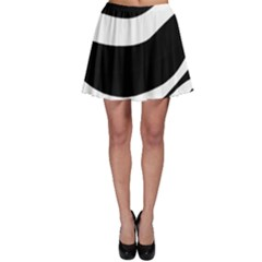 White or black Skater Skirt