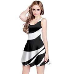 White or black Reversible Sleeveless Dress