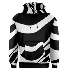 White or black Men s Pullover Hoodie