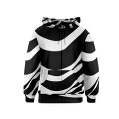 White or black Kids  Zipper Hoodie