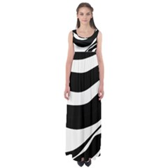 White or black Empire Waist Maxi Dress