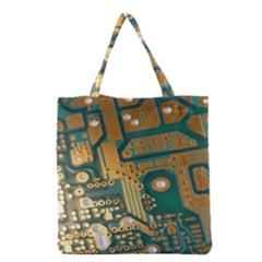 Circuit Computer Plate  Grocery Tote Bag