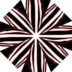 White, red and black lines Straight Umbrellas