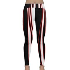 White, red and black lines Yoga Leggings